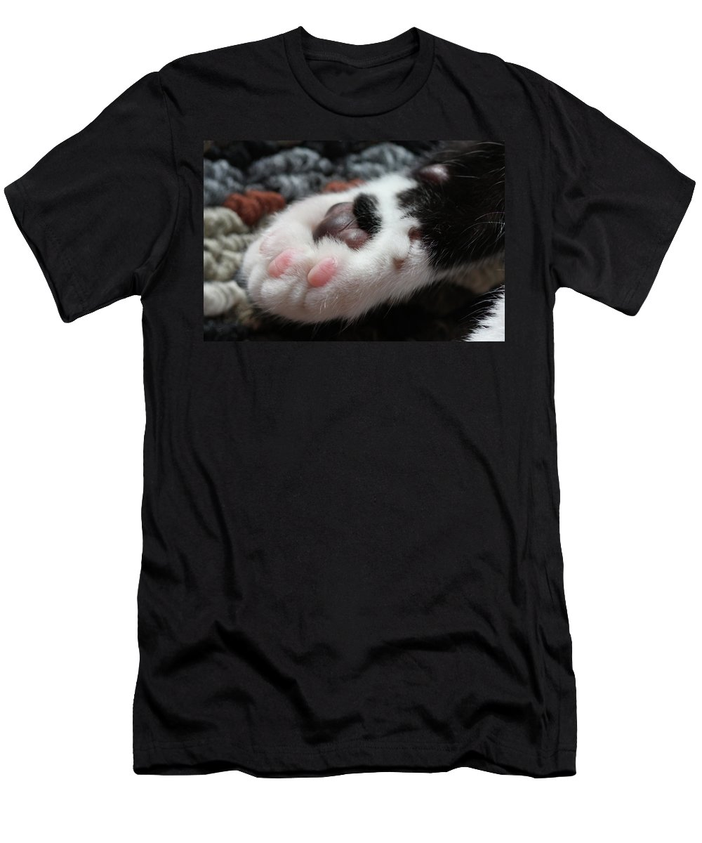Cat Men's T-Shirt (Athletic Fit) featuring the photograph Cats Paw by Kim Henderson
