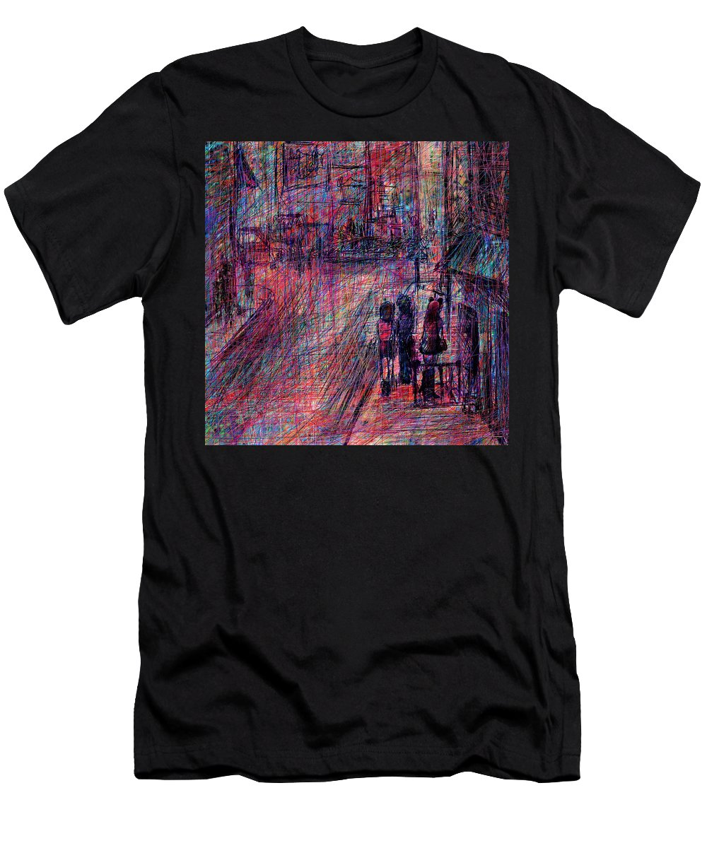 Abstract Men's T-Shirt (Athletic Fit) featuring the digital art Catwoman by Rachel Christine Nowicki