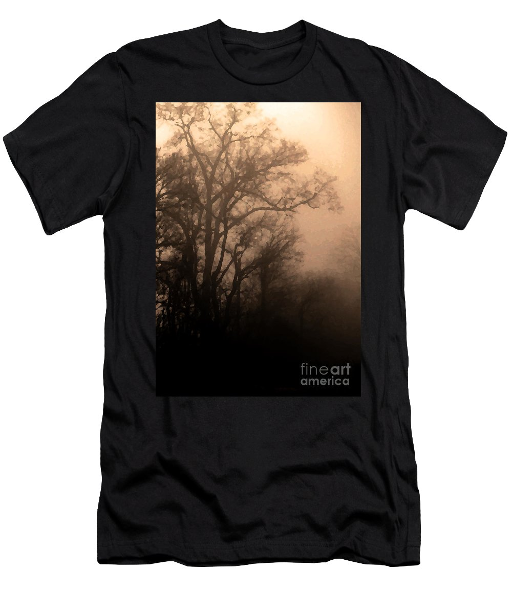 Soft Men's T-Shirt (Athletic Fit) featuring the photograph Caught Between Light And Dark by Amanda Barcon