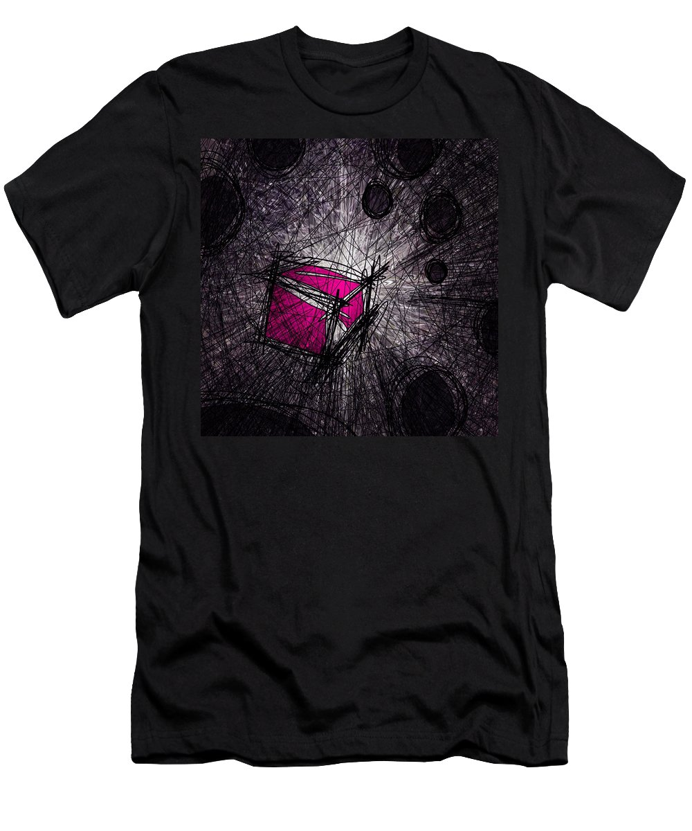 Abstract Men's T-Shirt (Athletic Fit) featuring the digital art Caught In A Web by Rachel Christine Nowicki