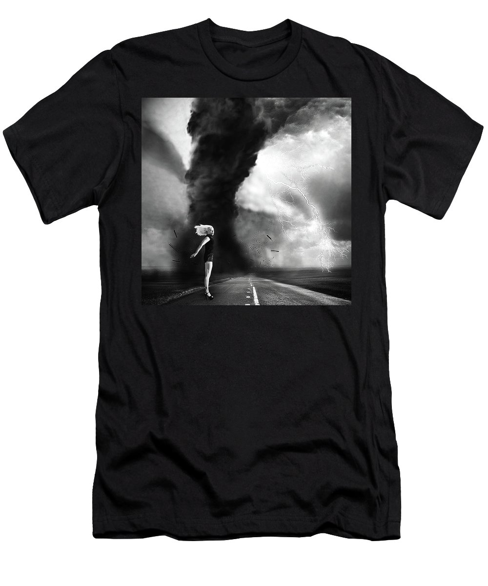Surreal Men's T-Shirt (Athletic Fit) featuring the photograph Caught In The Storm by Robert Magnus