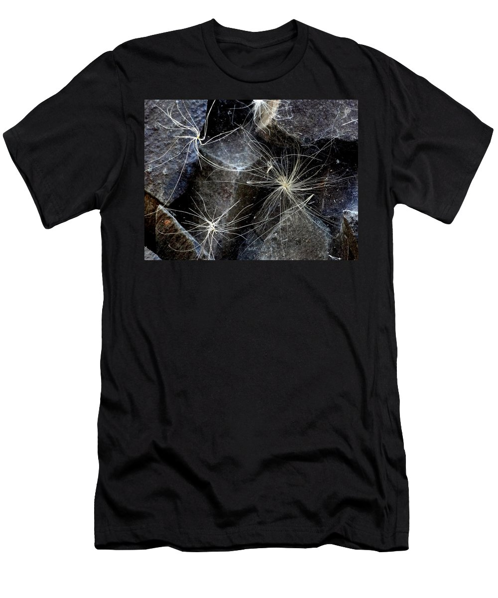 Spider Web Men's T-Shirt (Athletic Fit) featuring the photograph Caught Up by Martin Brockhaus