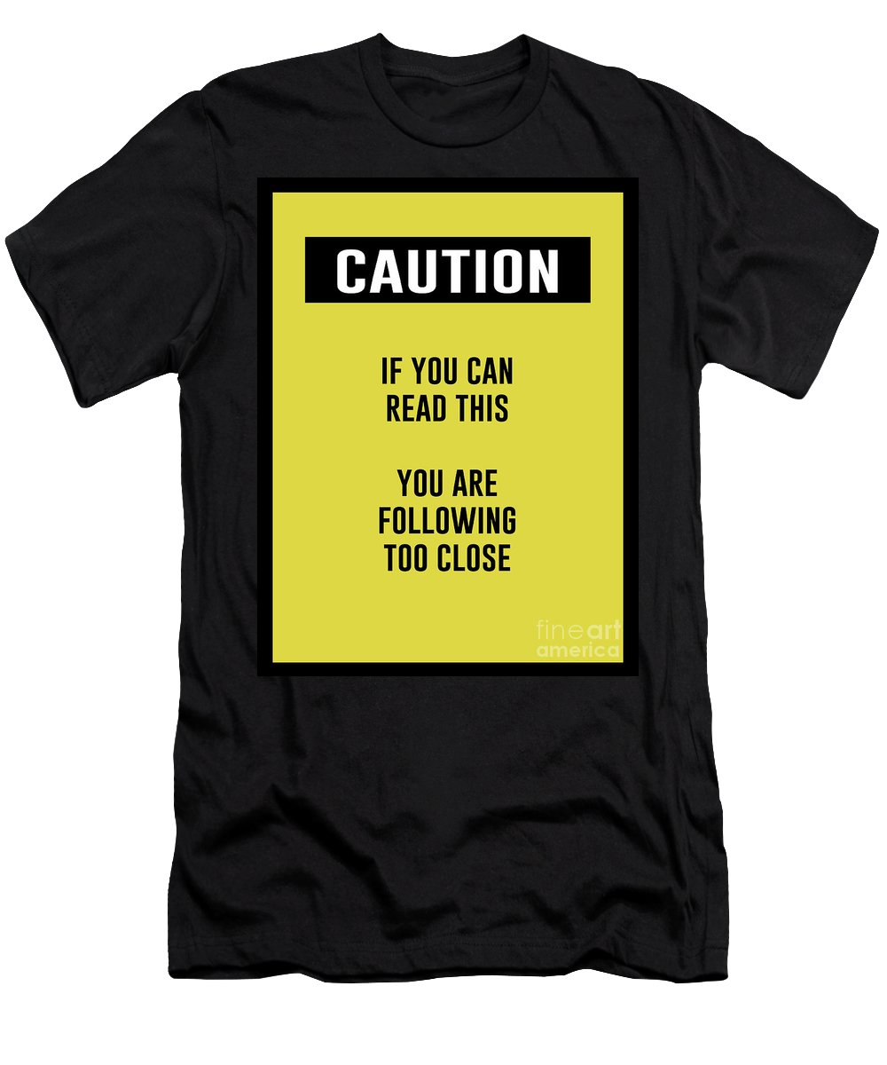 Caution Sign Men's T-Shirt (Athletic Fit) featuring the digital art Caution Sign by Anne Kitzman
