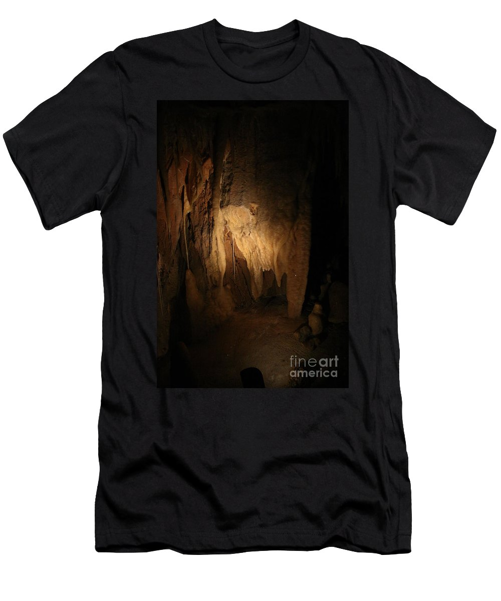 Natural Men's T-Shirt (Athletic Fit) featuring the photograph Cave 9 by Lynn Michelle