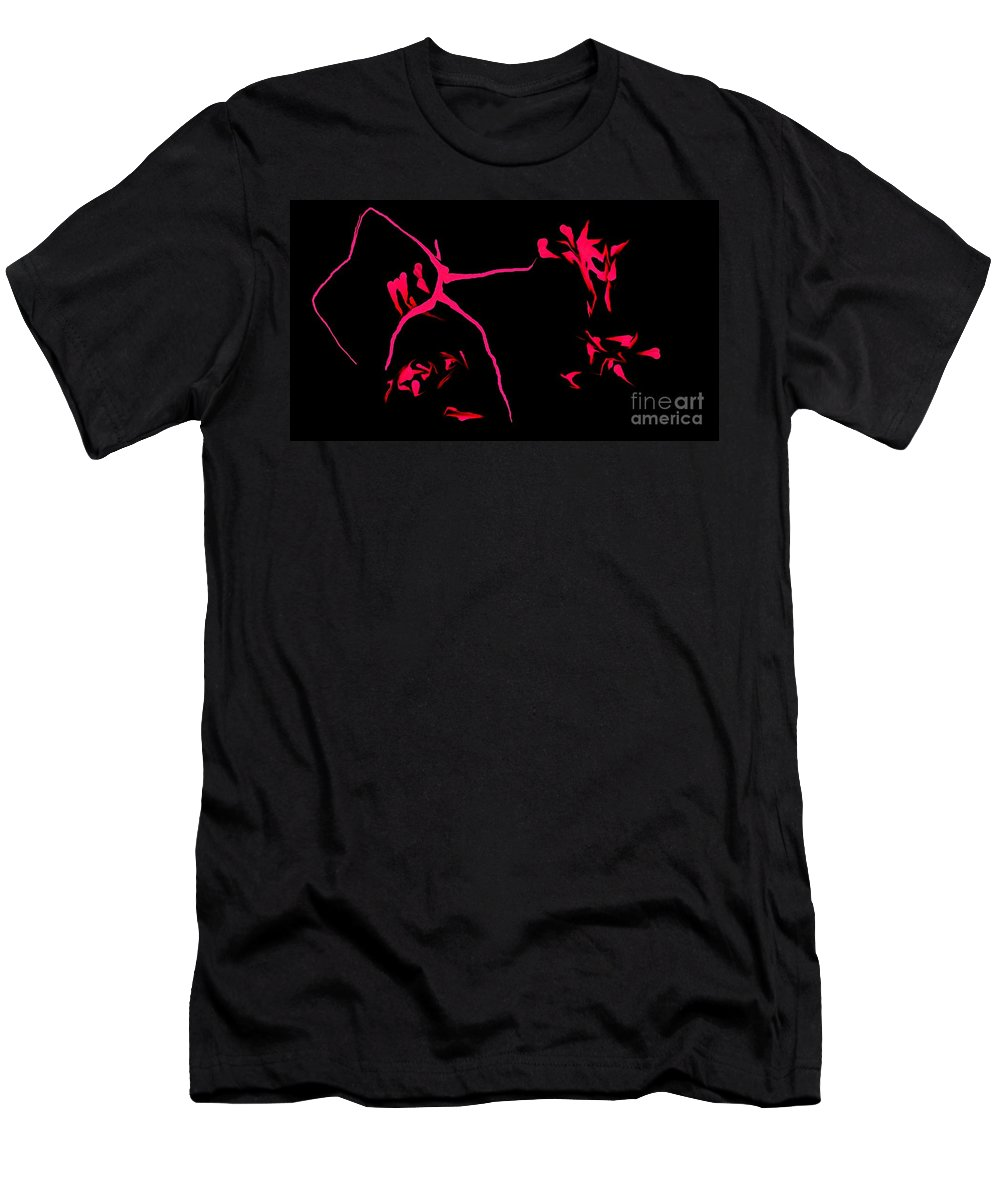 Abstract Men's T-Shirt (Athletic Fit) featuring the digital art Cave Drawings by David Lane