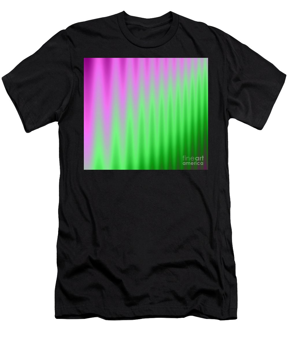 Cave Men's T-Shirt (Athletic Fit) featuring the digital art Cavernous Color by Stan Reckard