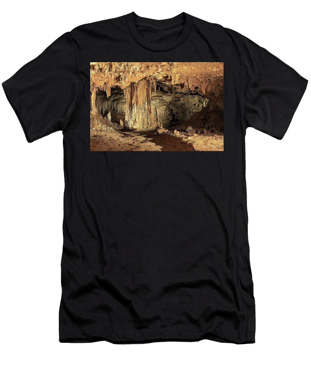 Cavern Men's T-Shirt (Athletic Fit) featuring the photograph Caverns by Travis Rogers