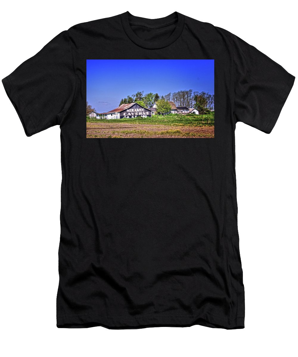Cayuga Men's T-Shirt (Athletic Fit) featuring the photograph Cayuga Barn 1 by Fred Hahn