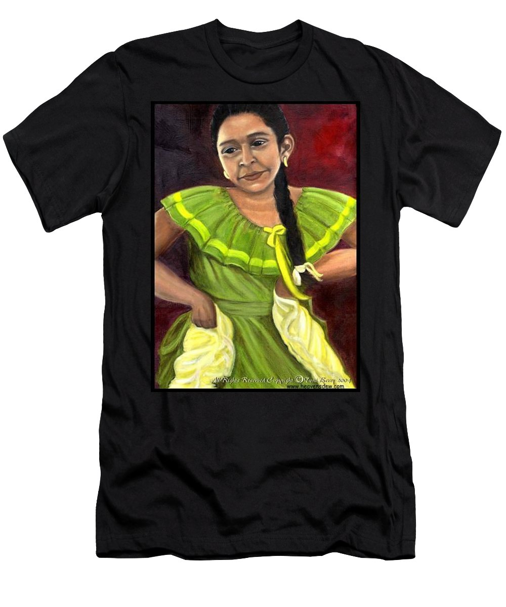 Men's T-Shirt (Athletic Fit) featuring the painting Cecelia by Toni Berry