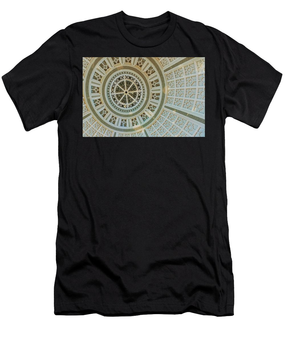 Ceiling Detail Men's T-Shirt (Athletic Fit) featuring the photograph Ceiling Detail by Sandy Taylor