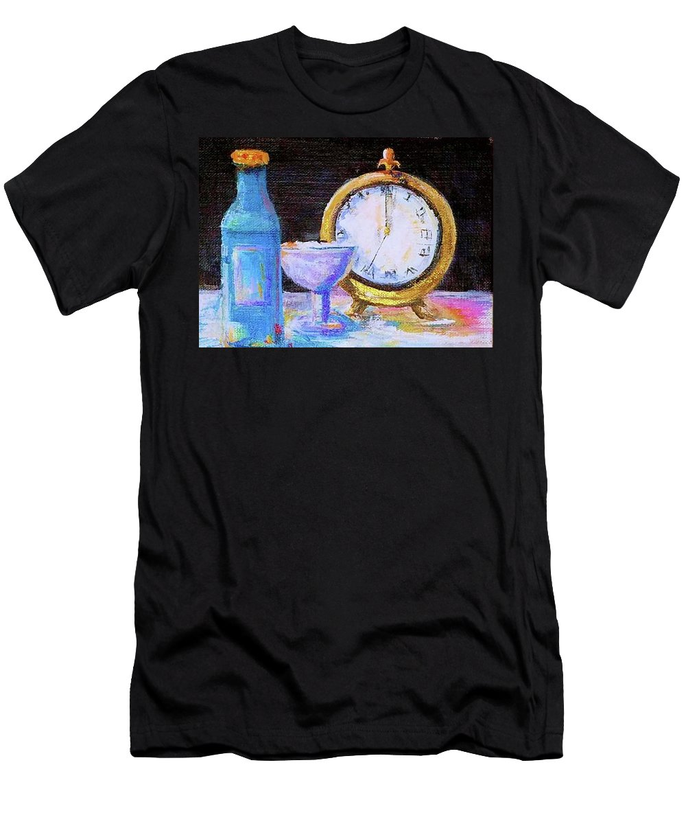 Bottle Men's T-Shirt (Athletic Fit) featuring the painting Celebration by Bernadette Krupa