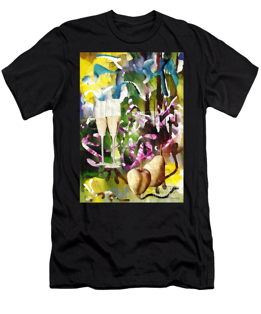 Party Men's T-Shirt (Athletic Fit) featuring the mixed media Celebration by Sarah Loft