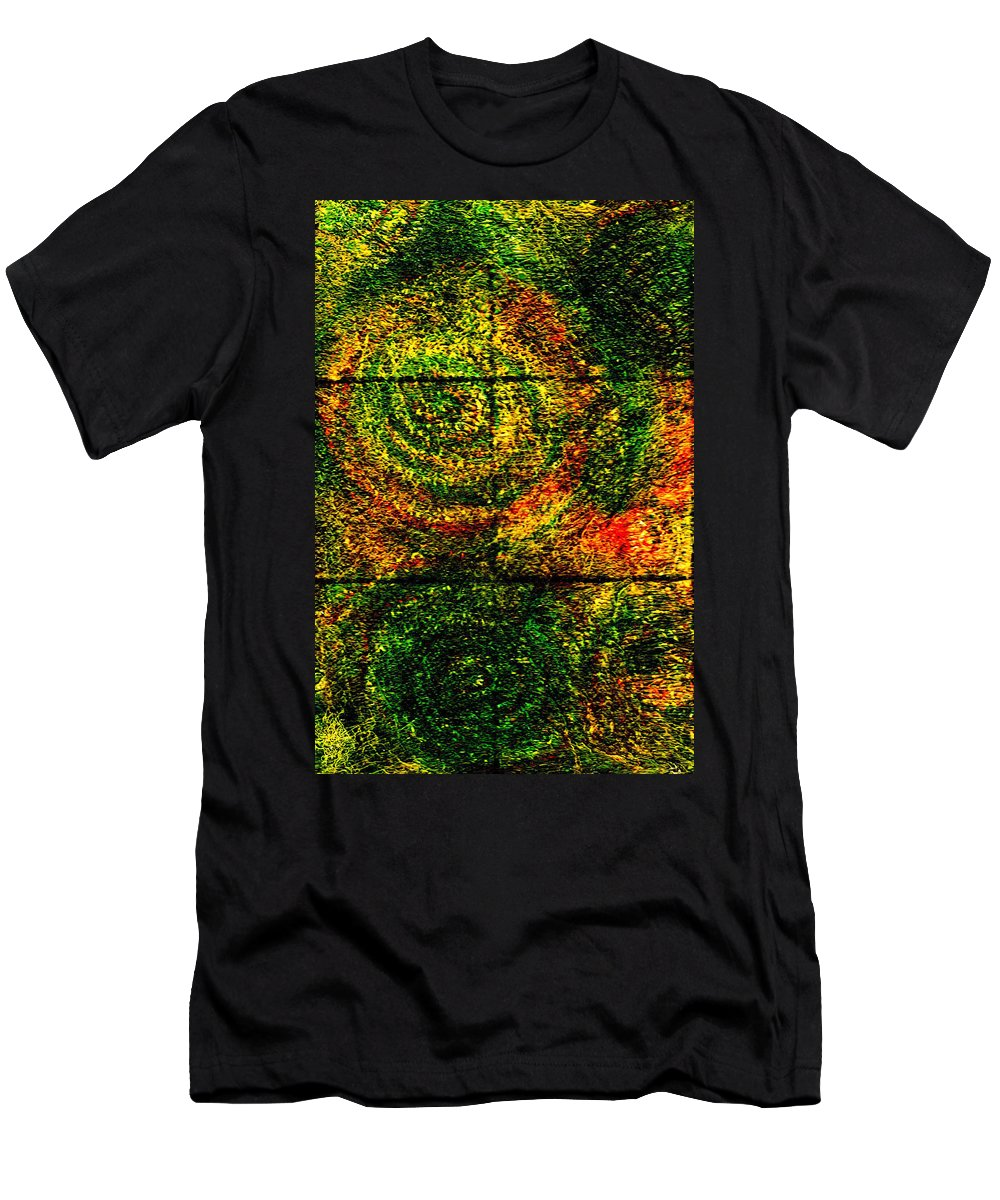 Abstract Men's T-Shirt (Athletic Fit) featuring the painting Celestial Grid by Wayne Potrafka