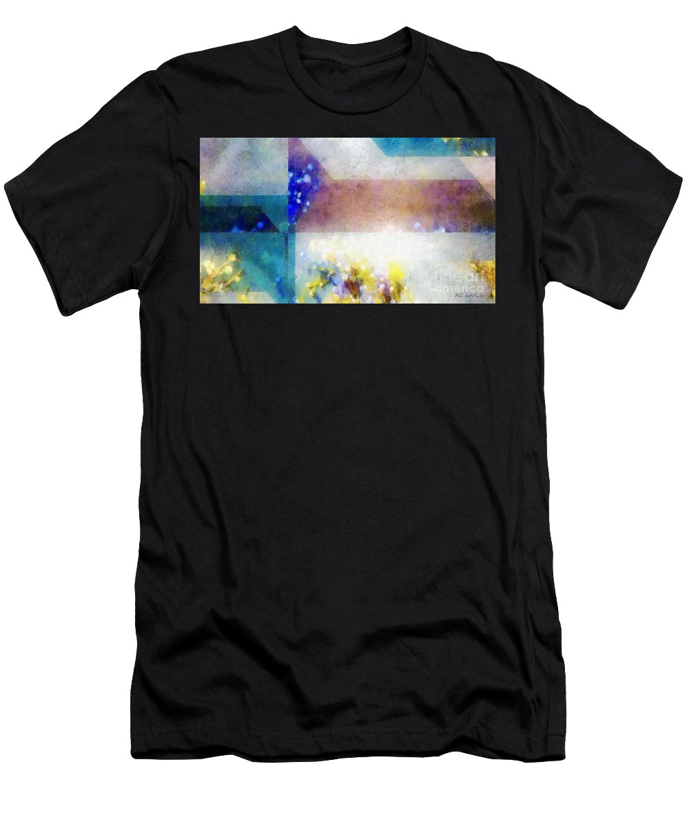 Abstract Men's T-Shirt (Athletic Fit) featuring the painting Celestial Navigation by RC DeWinter