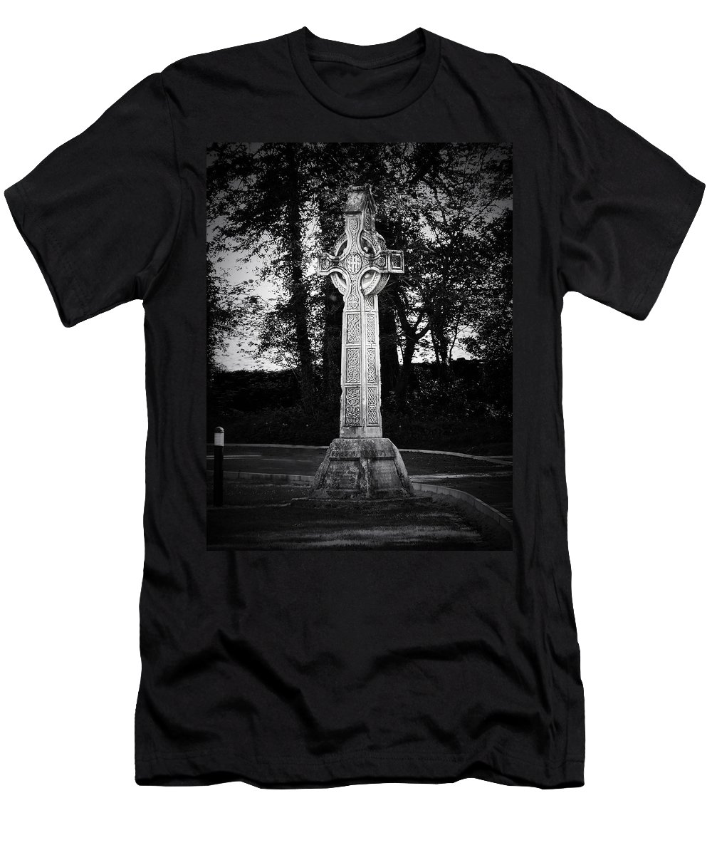 Irish Men's T-Shirt (Athletic Fit) featuring the photograph Celtic Cross In Killarney Ireland by Teresa Mucha