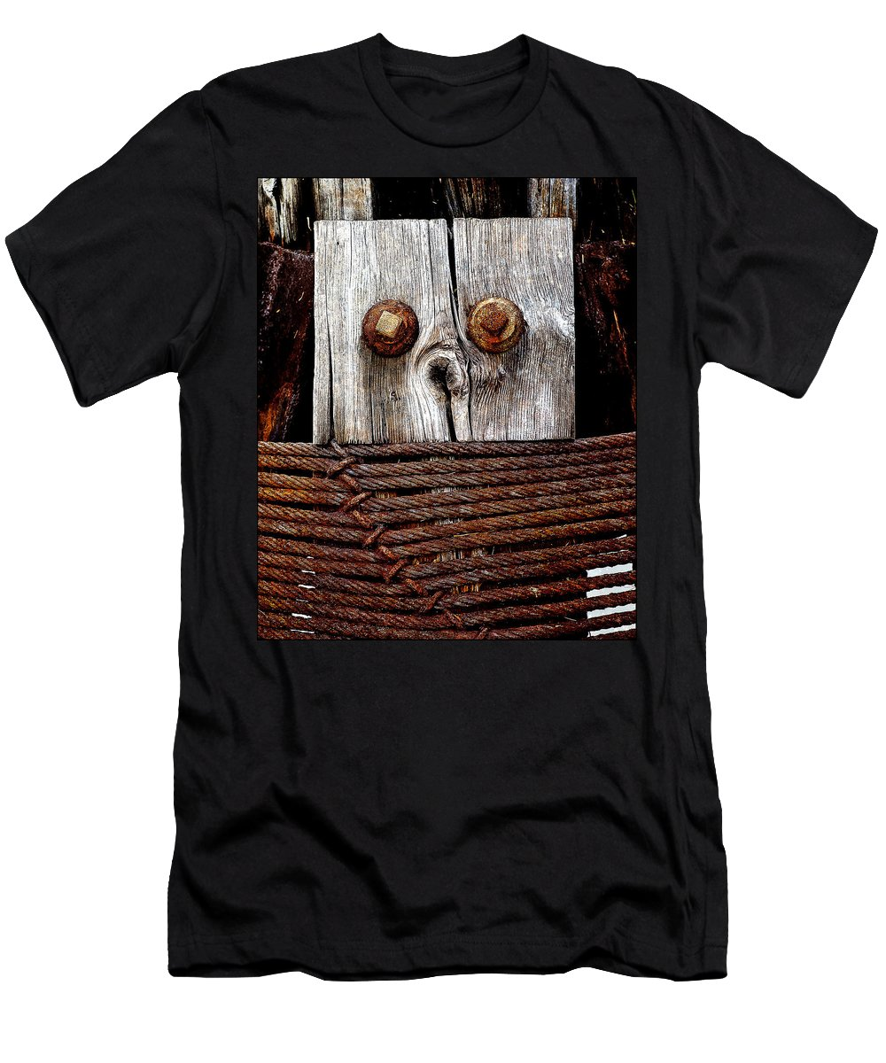Anthropomorphic Men's T-Shirt (Athletic Fit) featuring the photograph Censorship by Rick Mosher