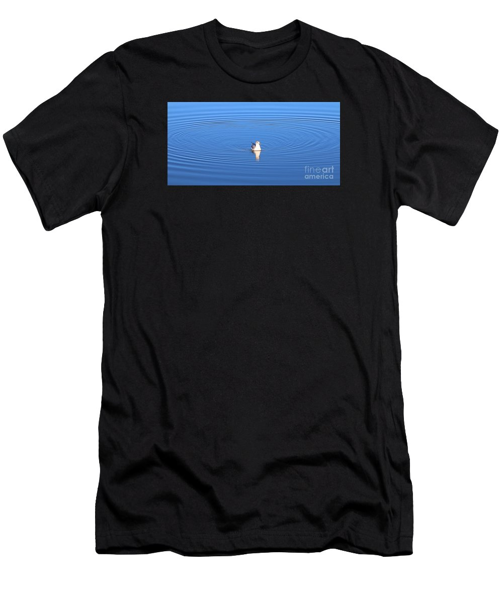 Seagull Men's T-Shirt (Athletic Fit) featuring the photograph Center Of Attention 3247 by Jack Schultz