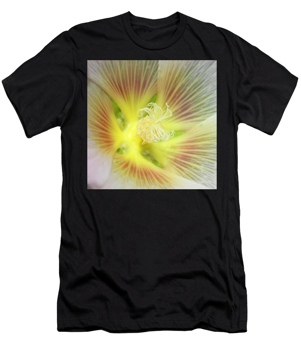 Yellow Flower Men's T-Shirt (Athletic Fit) featuring the photograph Center Sensation by Matthew Wilson