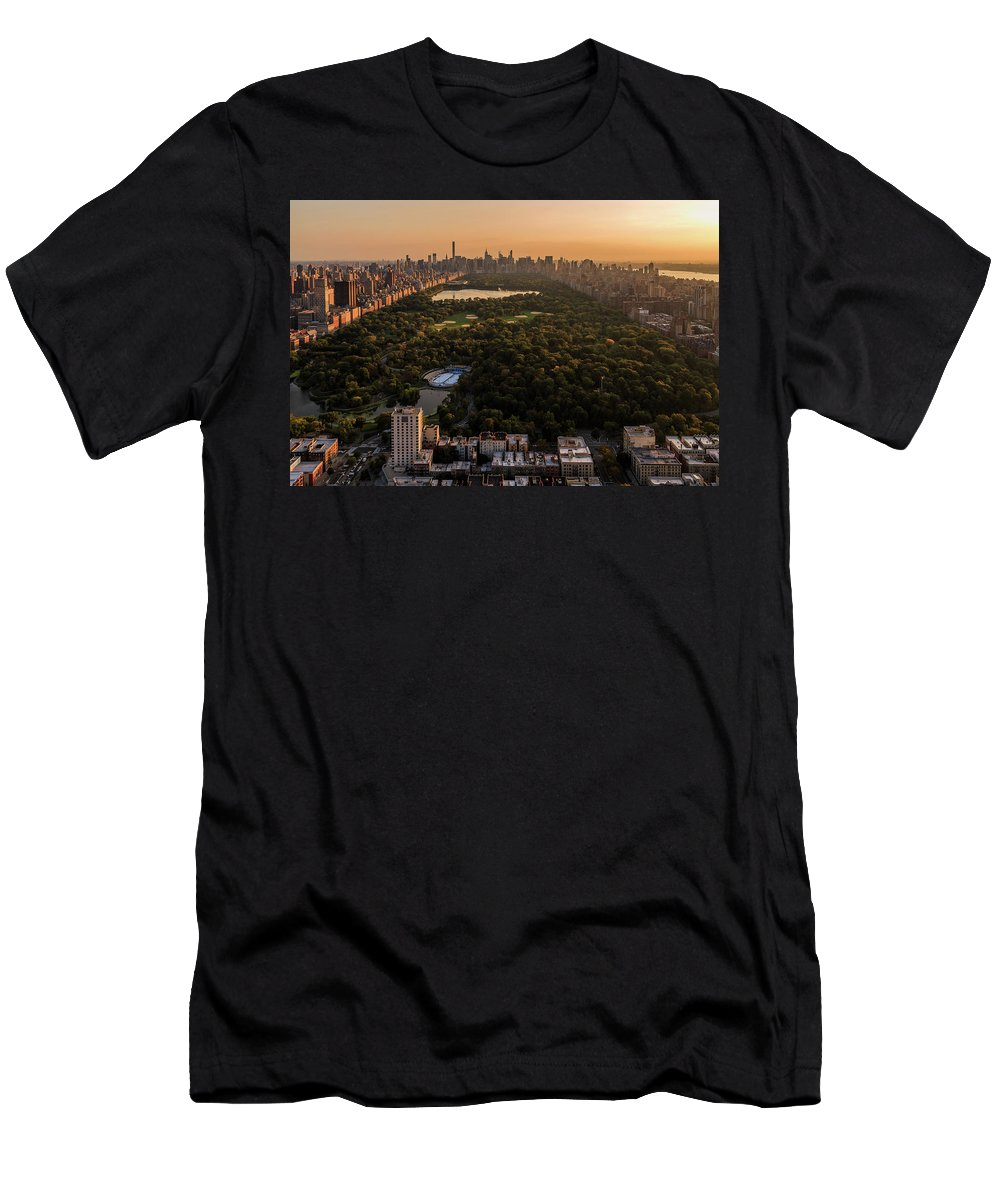 Men's T-Shirt (Athletic Fit) featuring the photograph Central Park by Anthony Fields