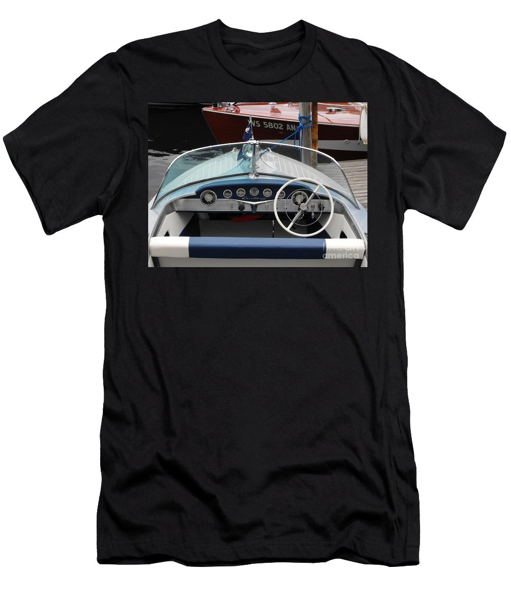 Wood Boat Men's T-Shirt (Athletic Fit) featuring the photograph Century Arabian by Neil Zimmerman