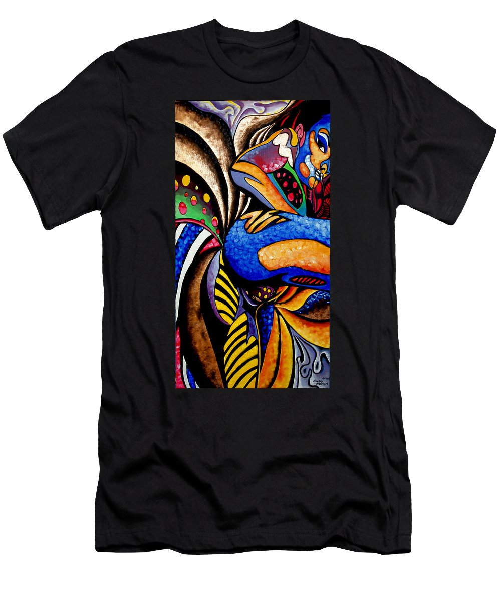 Abstract Men's T-Shirt (Athletic Fit) featuring the painting Ch001 by Che Hondo