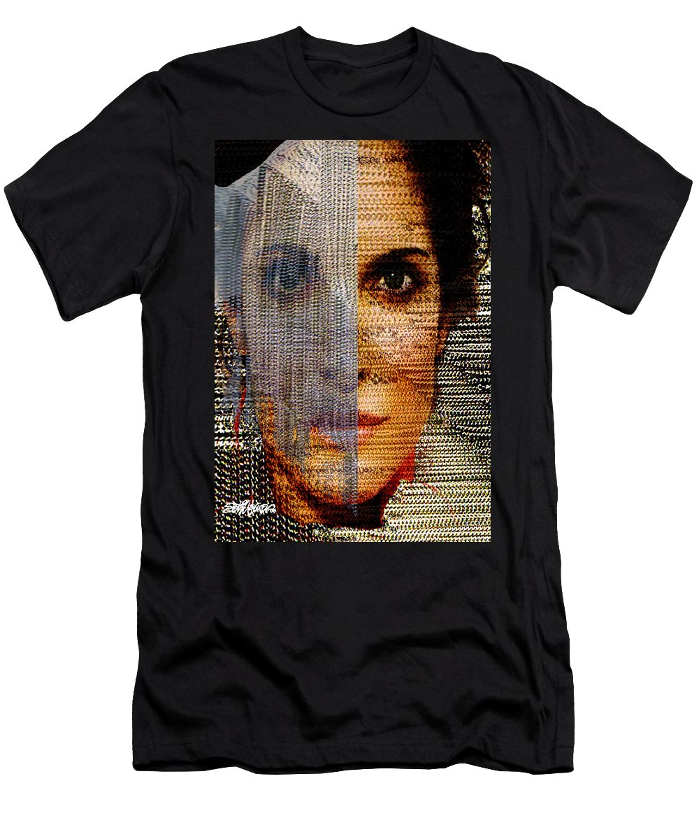 Mysterious Men's T-Shirt (Athletic Fit) featuring the digital art Chained Vixen by Seth Weaver