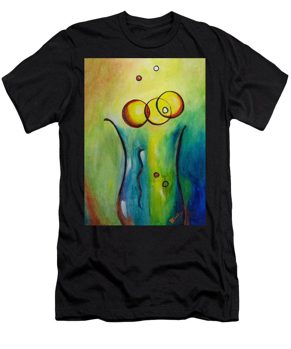 Abstract Men's T-Shirt (Athletic Fit) featuring the painting Champagne by Donna Blackhall