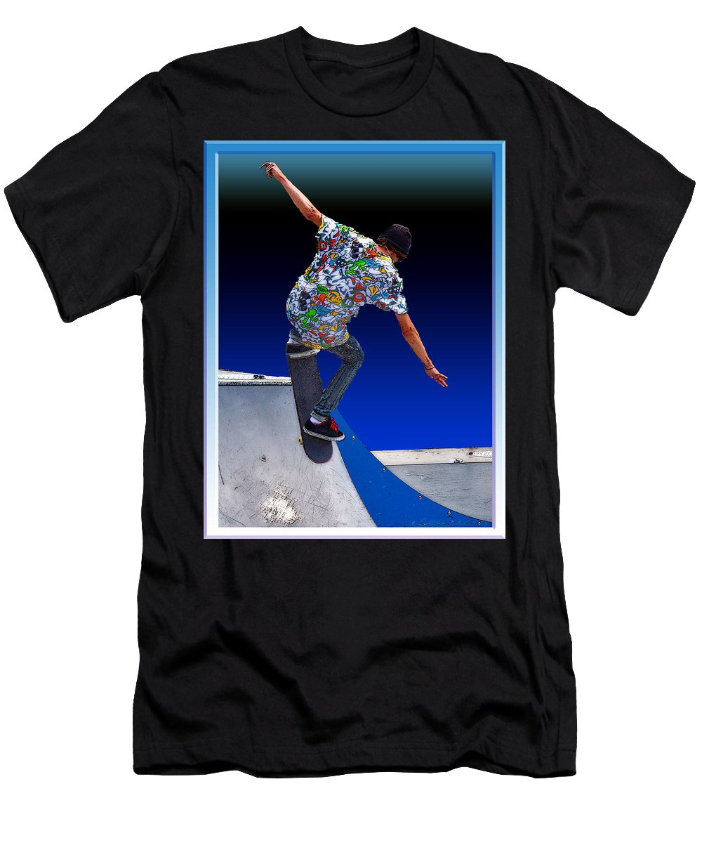 Champion Men's T-Shirt (Athletic Fit) featuring the digital art Champion Skater by Terry Anderson