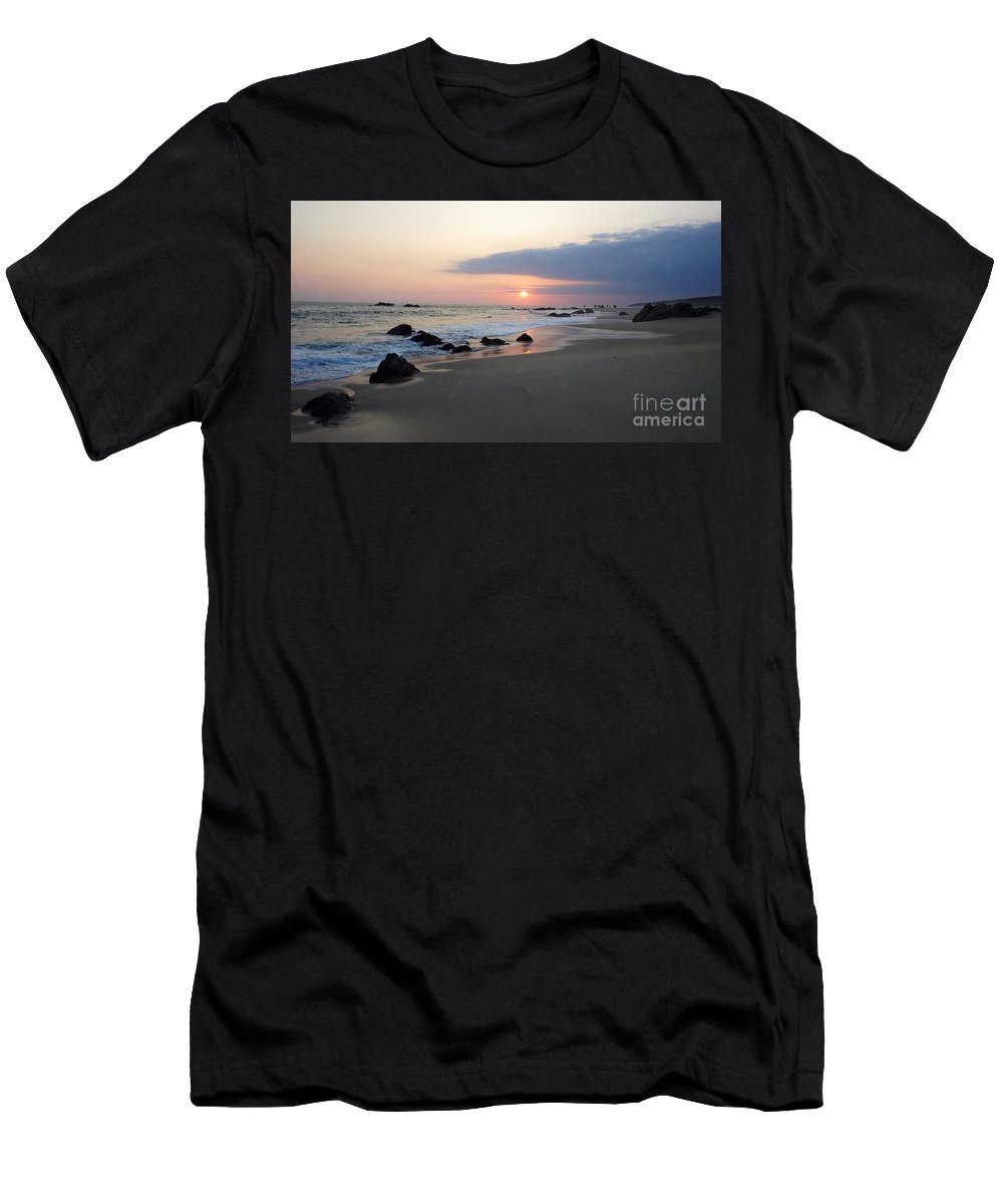 Sunset Men's T-Shirt (Athletic Fit) featuring the photograph Changing Color by Victor K
