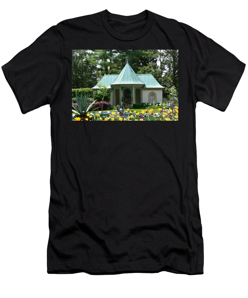 Chanticleer Bath House Men's T-Shirt (Athletic Fit) featuring the photograph Chanticleer Bath House B by Jeannie Rhode