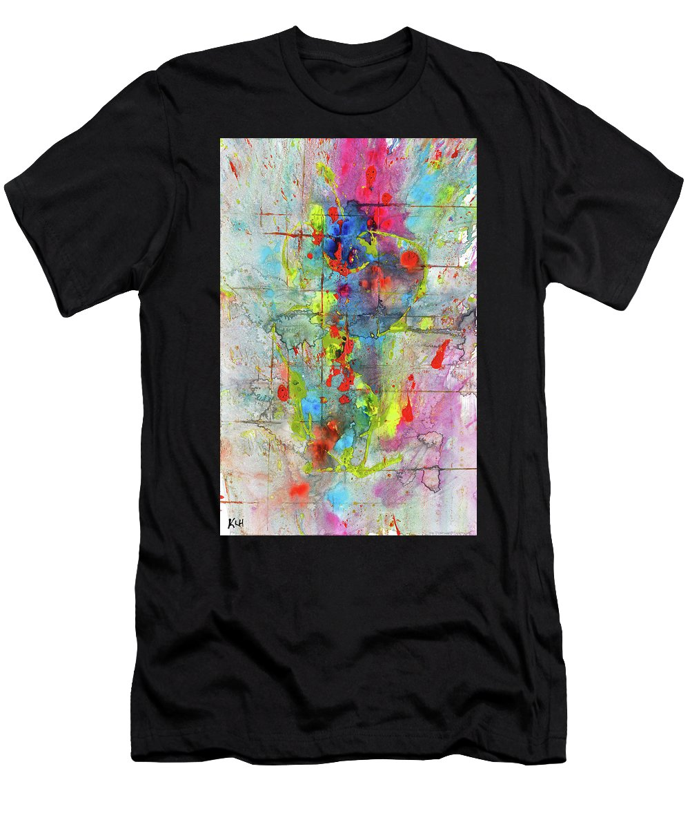 Chaotic Craziness Playful Whimsical Painting Abstract Expressionism Painting Original Symbol Painting Abstract Original Painting Painting Paintings Abstract Painting Paintings Paintings Modern Art Paintings Paintings Expressionism Paintings Paintings Painting Canvas Prints Painting Iphone Cases Paintings Canvas Prints Paintings Iphone Cases Abstract Painting Paintings Canvas Prints Giclee Print Painting Expressive Painting Print Men's T-Shirt (Athletic Fit) featuring the painting Chaotic Craziness Series 1989.033014 by Kris Haas