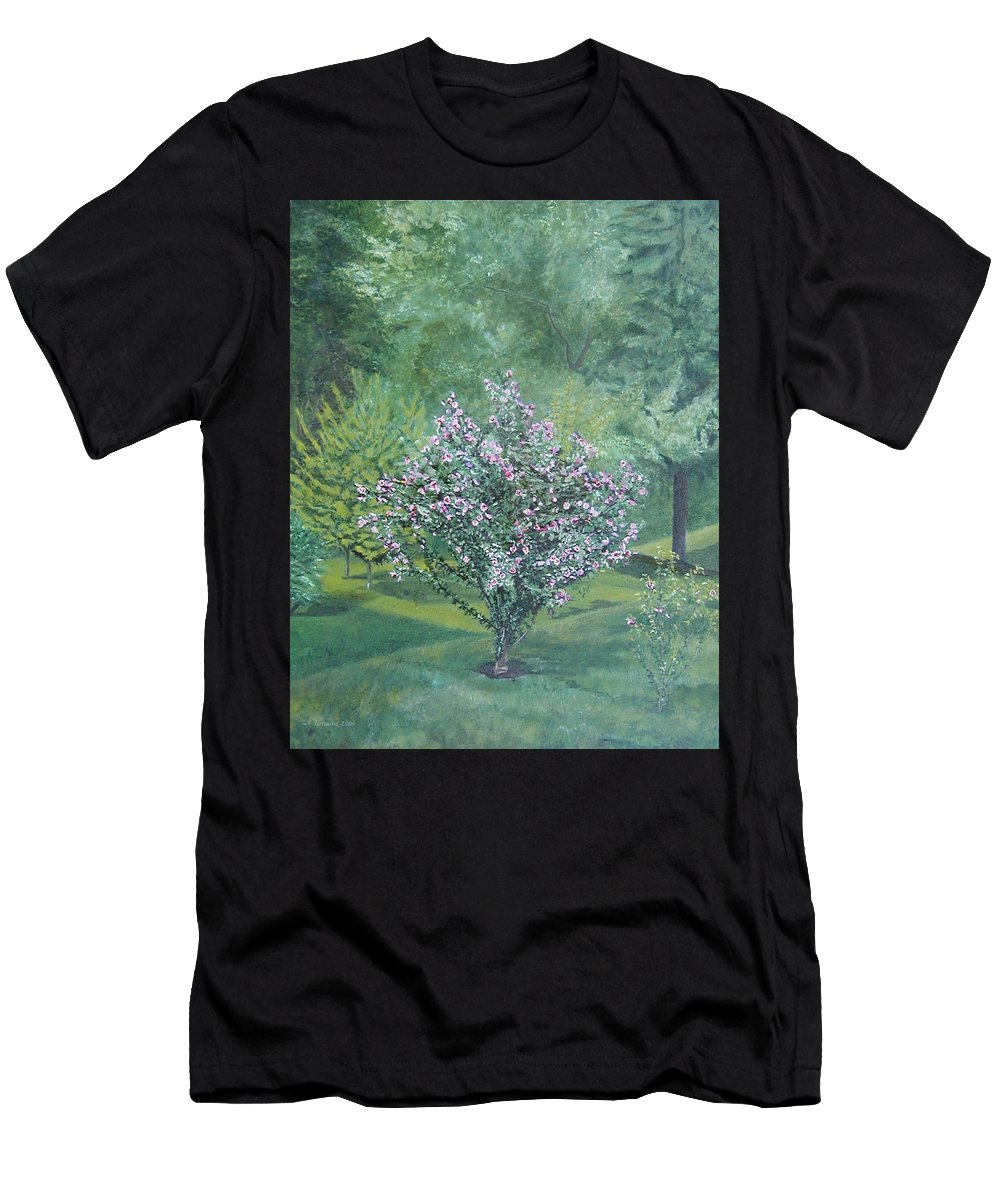 Blooming Men's T-Shirt (Athletic Fit) featuring the painting Charles Street by Leah Tomaino