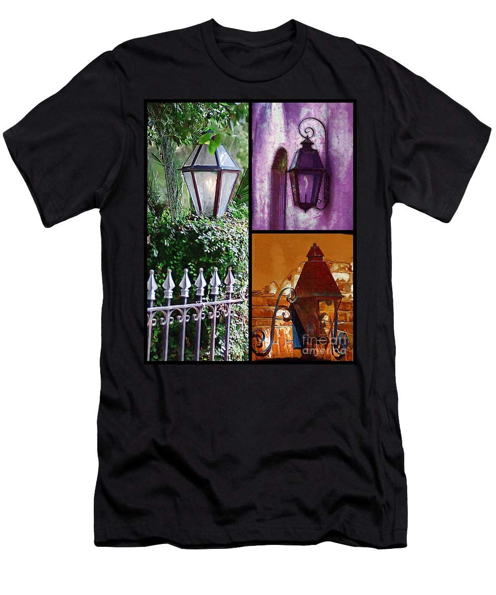 Charleston Lanterns Men's T-Shirt (Athletic Fit) featuring the photograph Charleston Lanterns by Donna Bentley
