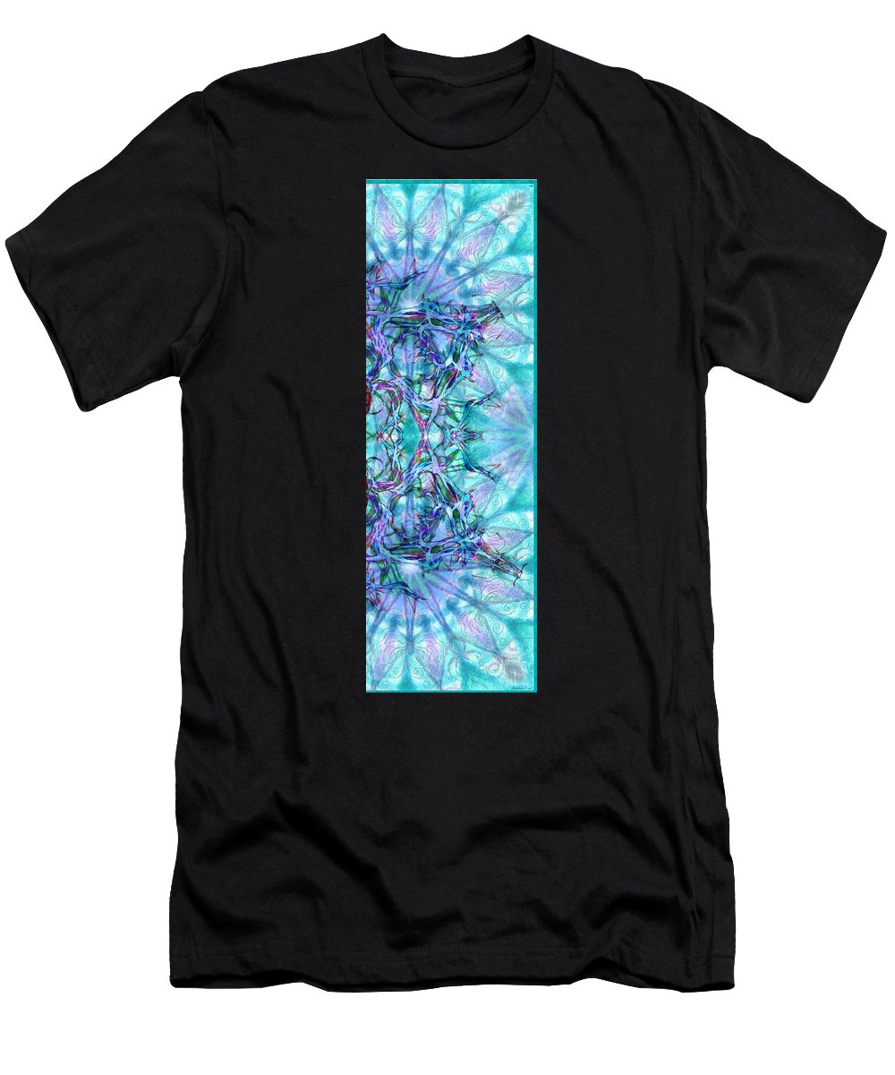 Chay Men's T-Shirt (Athletic Fit) featuring the digital art Chay Is Alive-triptych Part 3 by Sandrine Kespi