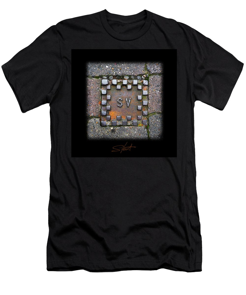 Square Men's T-Shirt (Athletic Fit) featuring the photograph Checker Sv by Charles Stuart