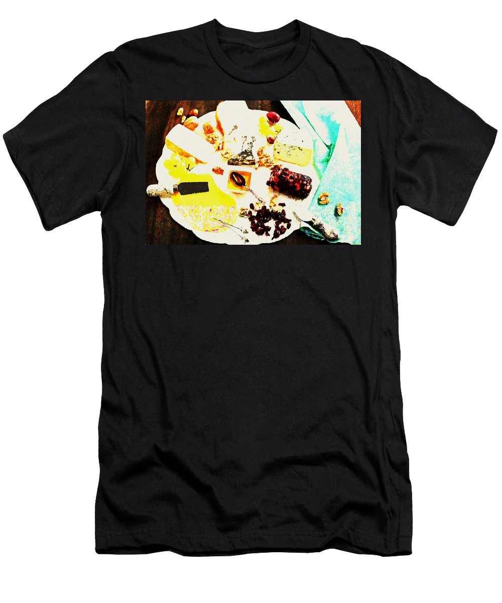 Cheese Men's T-Shirt (Athletic Fit) featuring the digital art Cheese by Lora Battle