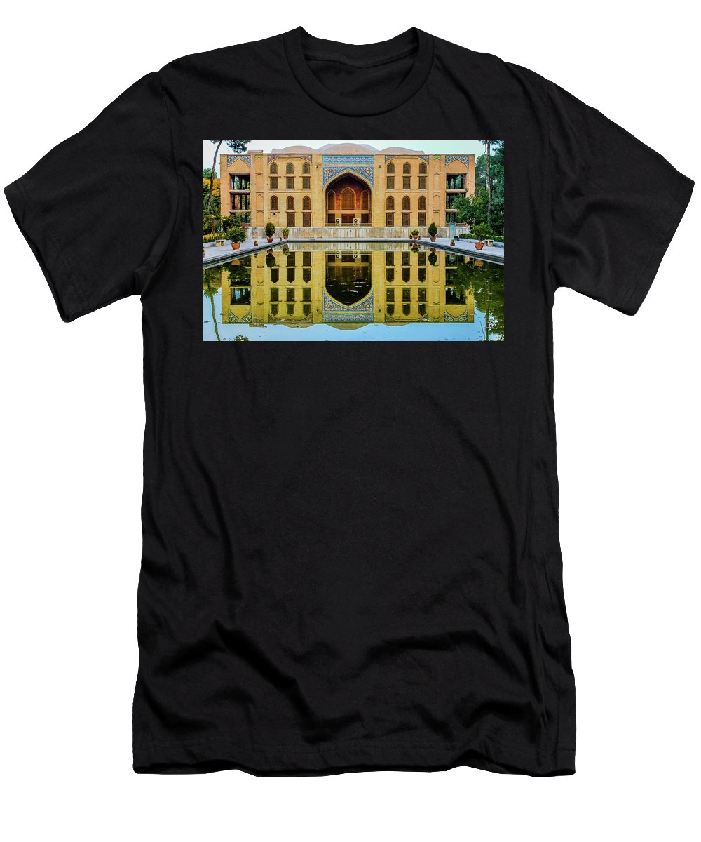 Chelel-sotun Palace Men's T-Shirt (Athletic Fit) featuring the photograph Chelel Sotun Palace by Mao Lopez