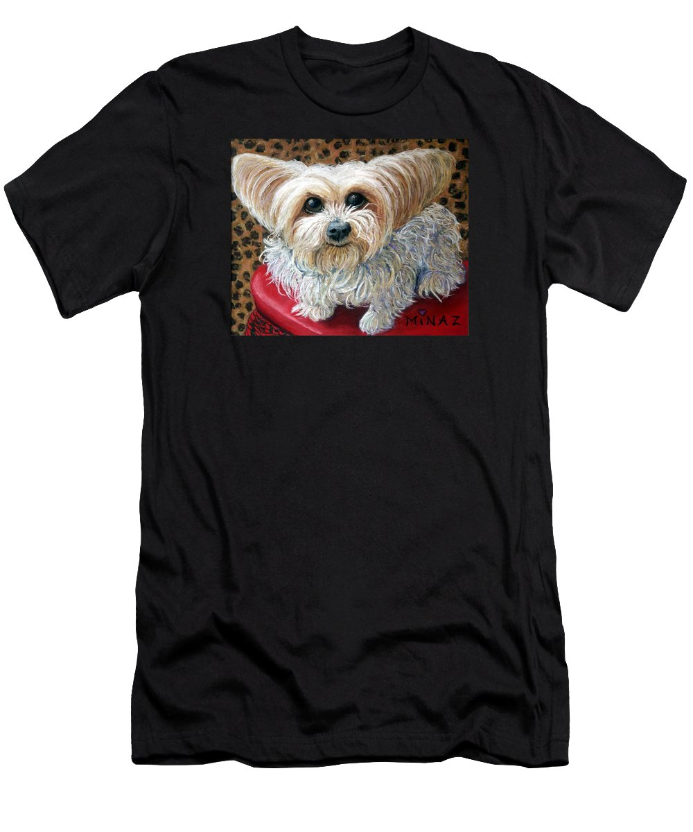 Dog Men's T-Shirt (Athletic Fit) featuring the painting My Friend by Minaz Jantz