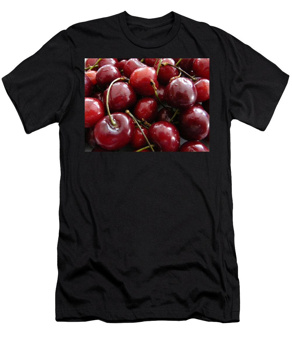 Cherries Men's T-Shirt (Athletic Fit) featuring the photograph Cherries by Valerie Ornstein