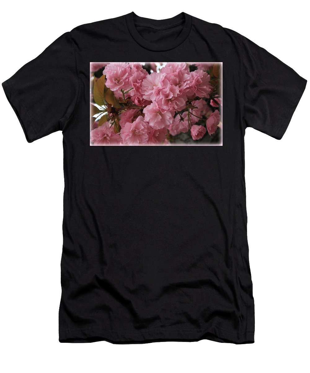 Macro Men's T-Shirt (Athletic Fit) featuring the photograph Cherry Blossoms by Dora Sofia Caputo Photographic Design and Fine Art