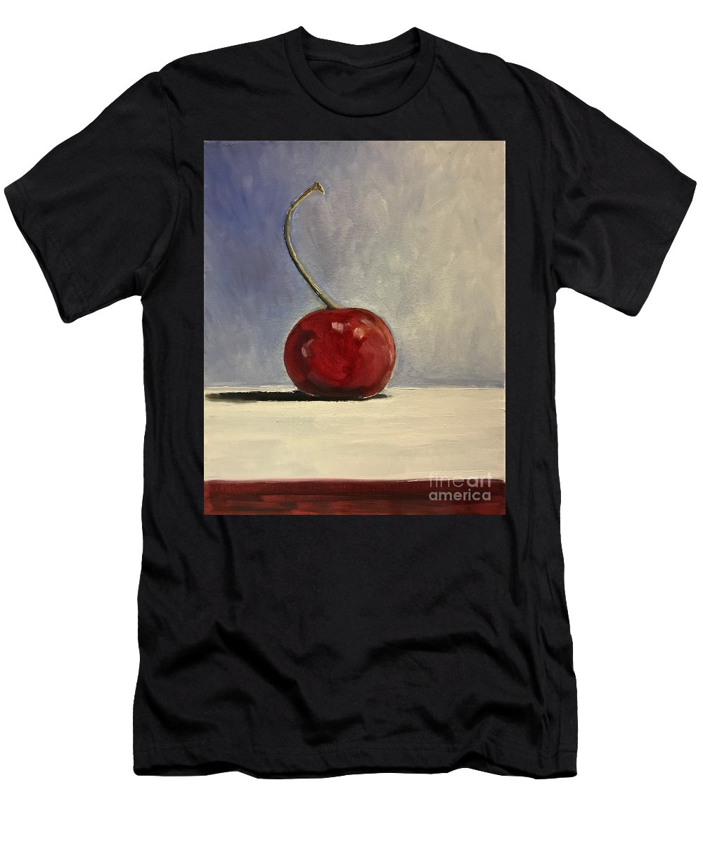 Cherry Men's T-Shirt (Athletic Fit) featuring the painting Cherry by Boni Arendt
