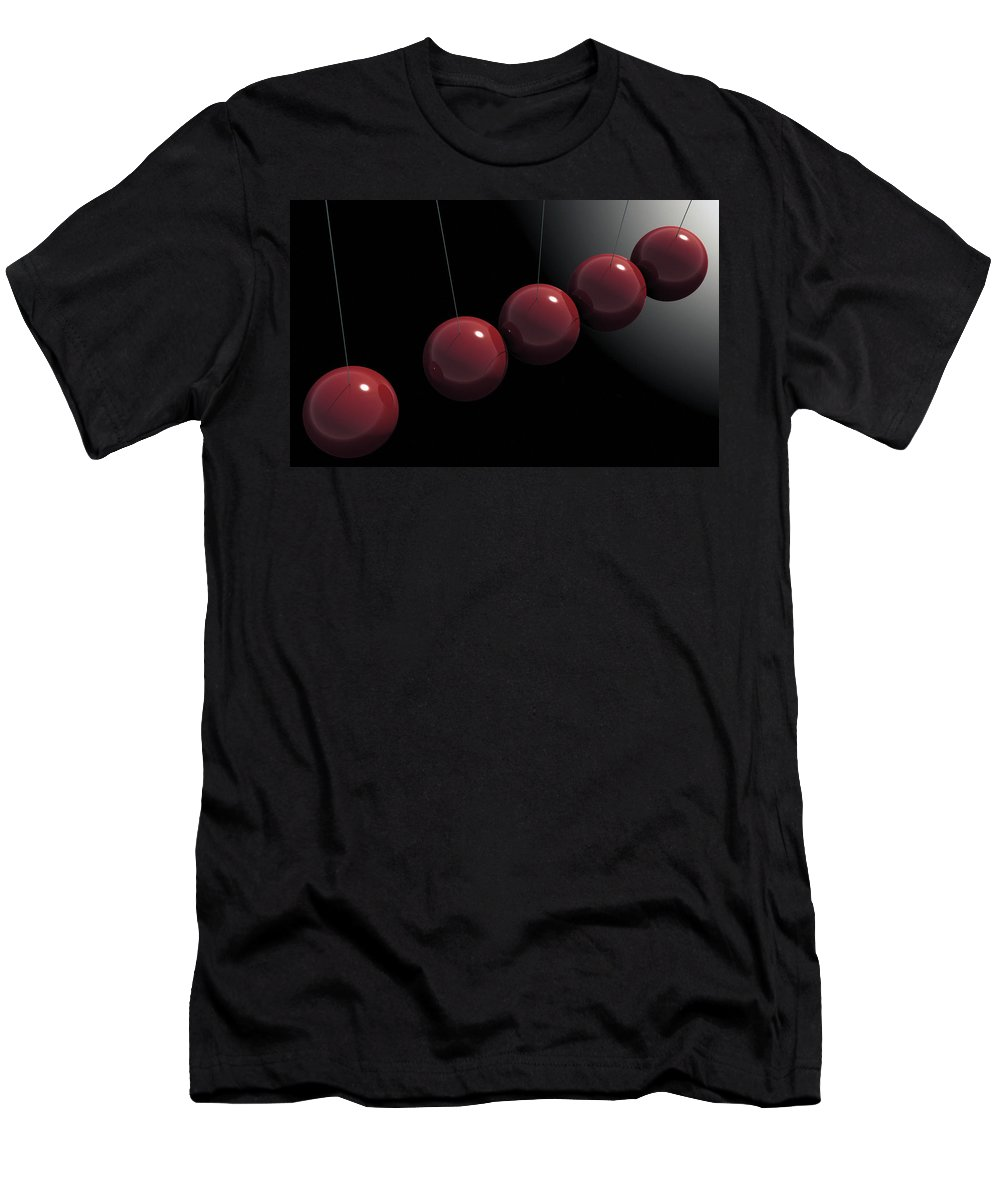 Minimalism Men's T-Shirt (Athletic Fit) featuring the digital art Cherry Red Knockers by Richard Rizzo