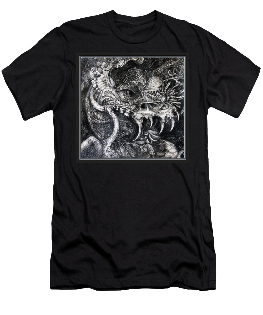 Men's T-Shirt (Athletic Fit) featuring the drawing Cherubim Of Beasties by Otto Rapp