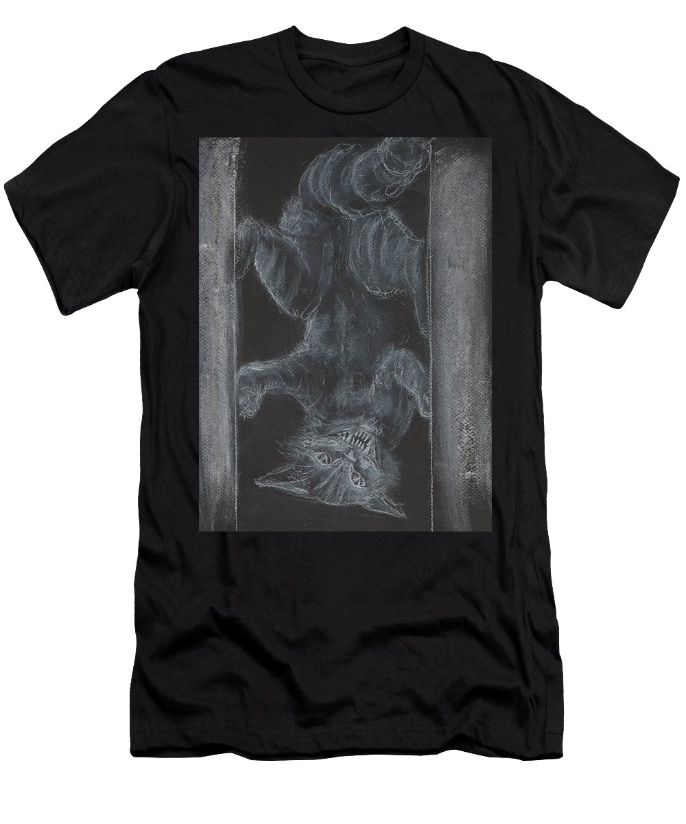 Cheshire Cat Men's T-Shirt (Athletic Fit) featuring the painting Cheshire Cat by Jennie Hallbrown