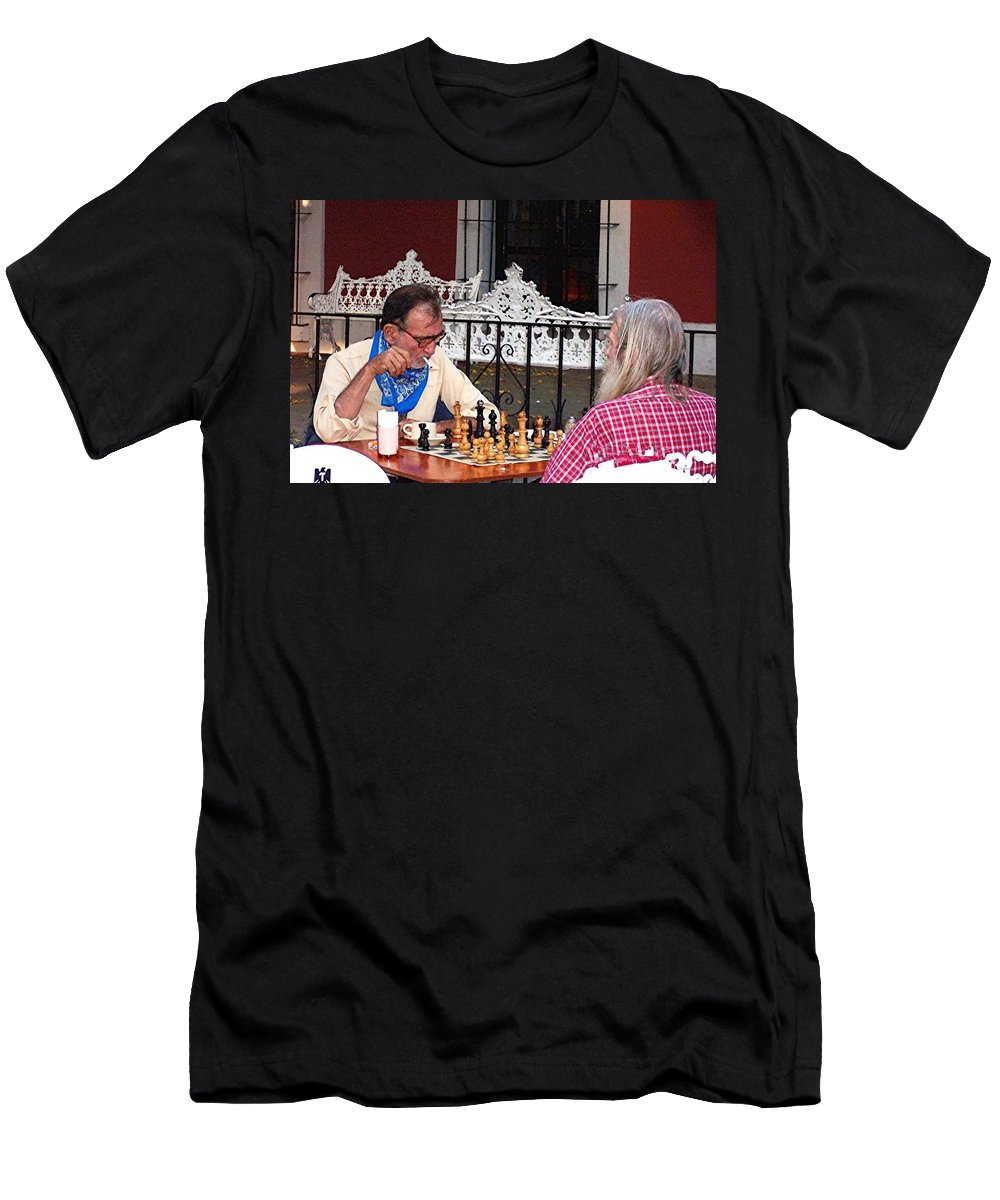 Chess Men's T-Shirt (Athletic Fit) featuring the photograph Chess by Linda Chambers