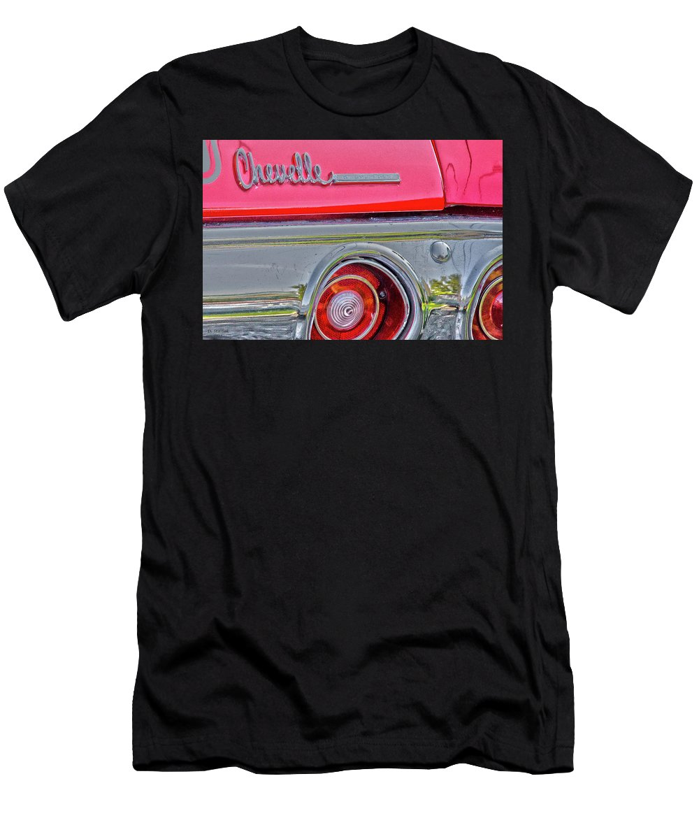 Chevelle Men's T-Shirt (Athletic Fit) featuring the digital art Chevelle Art 2 by David Stasiak
