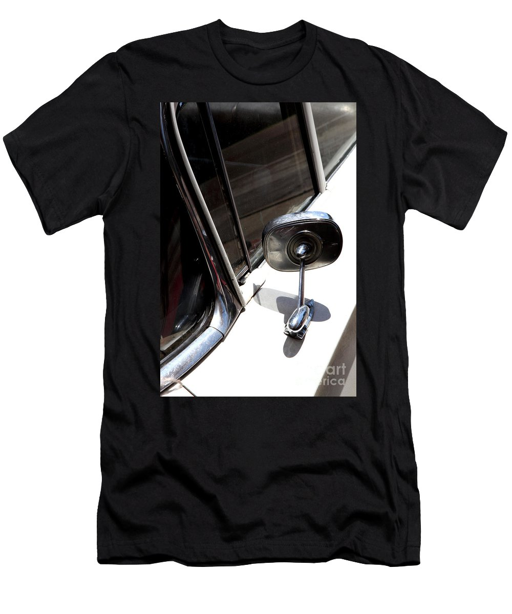 Biscayne Men's T-Shirt (Athletic Fit) featuring the photograph Chevy Looking Back by Amanda Barcon