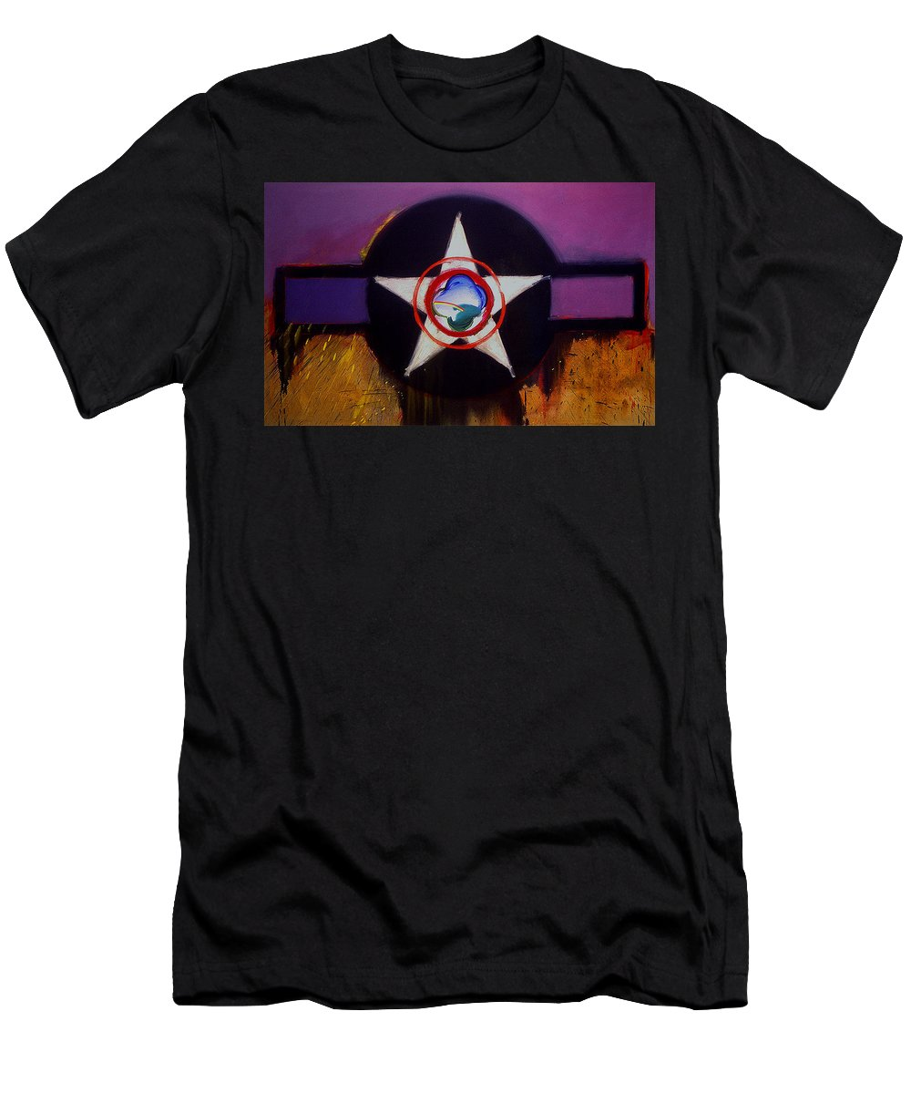 Air Force Insignia T-Shirt featuring the painting Cheyenne Autumn by Charles Stuart