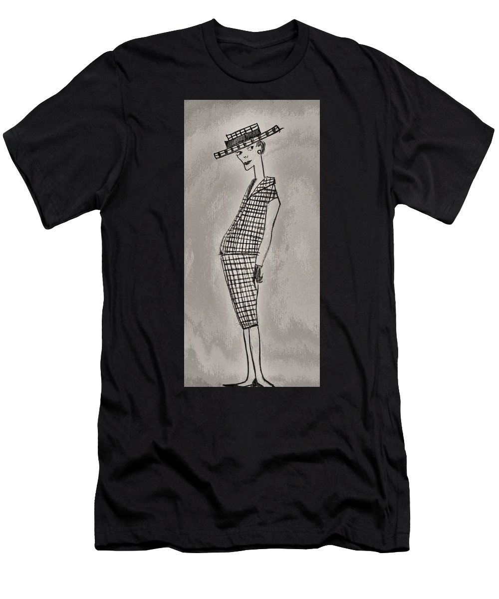 Architect Men's T-Shirt (Athletic Fit) featuring the drawing Chic by Svetlin Yosifov