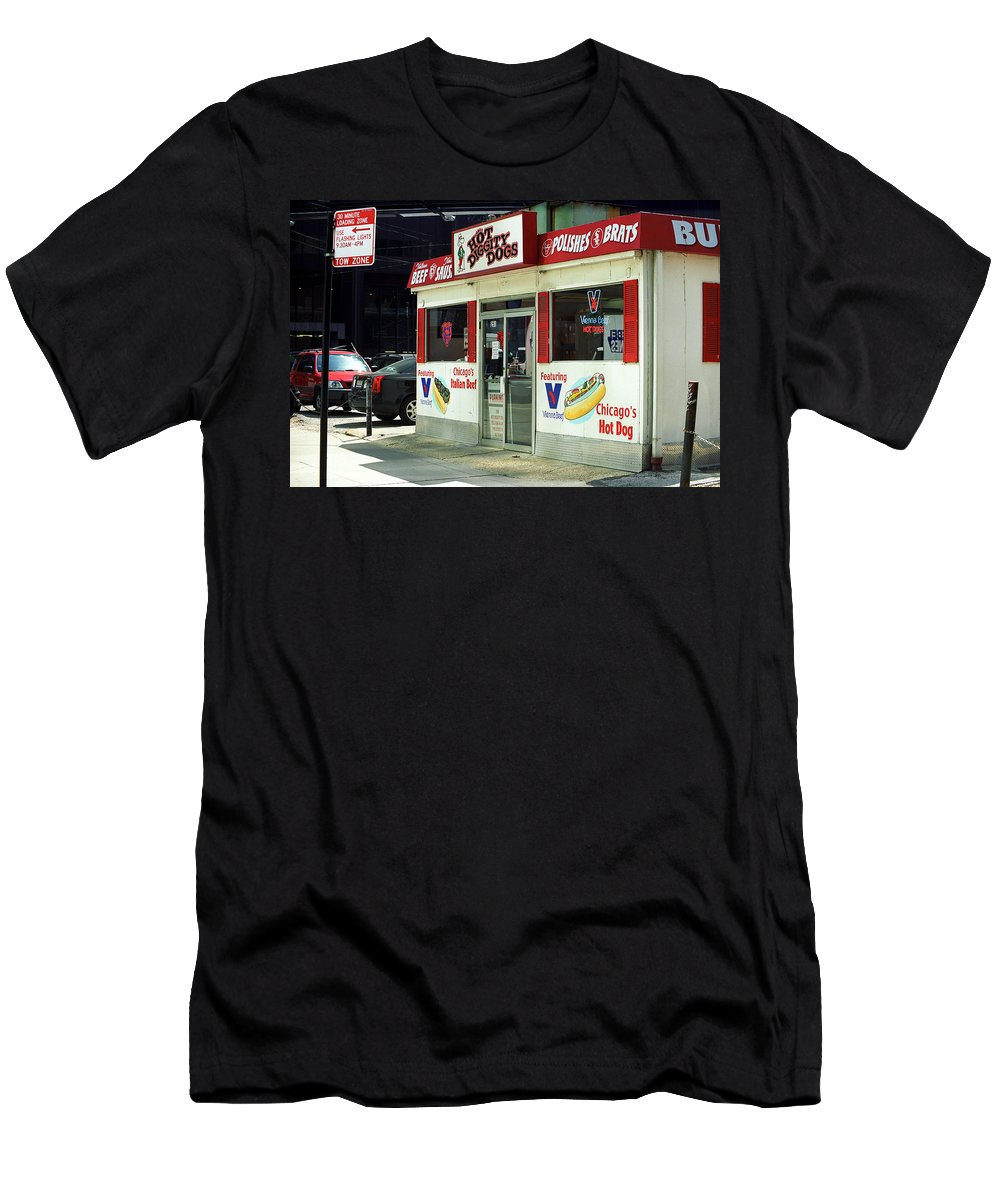 America Men's T-Shirt (Athletic Fit) featuring the photograph Chicago Dogs by Frank Romeo